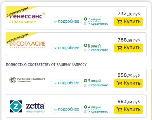 цены страховок с ассистансом AP Companies