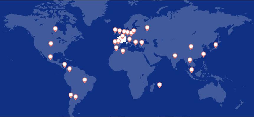 карта филиалов AXA