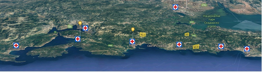 клиники в Черногории