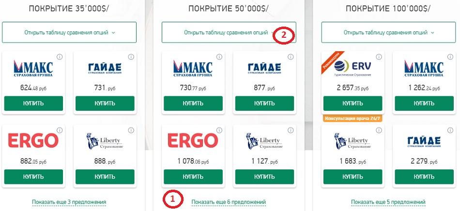 страховки на агрегаторе Instore.travel