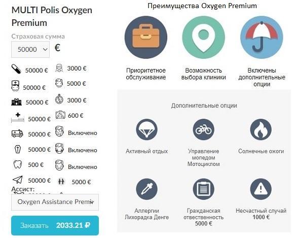 годовая страховка Polis Oxygen Premium