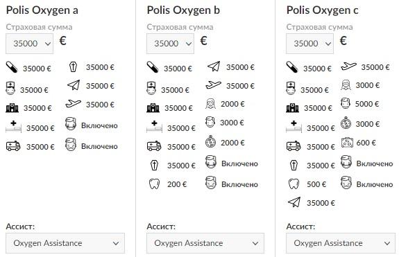 выбор программ Polis Oxygen