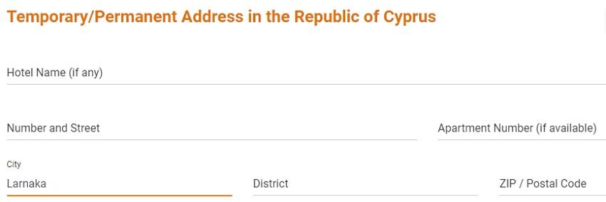 адрес на Кипре